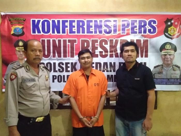 Polsek Medan Baru Tangkap Maling Laptop di Rumah Kost Padang Bulan