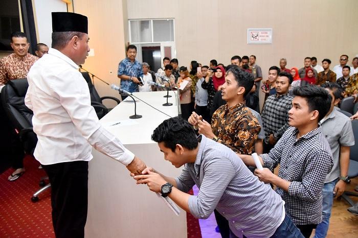 Terima Demo Mahasiswa, Gubernur Sumut Jelaskan Proses Assesment Selektif