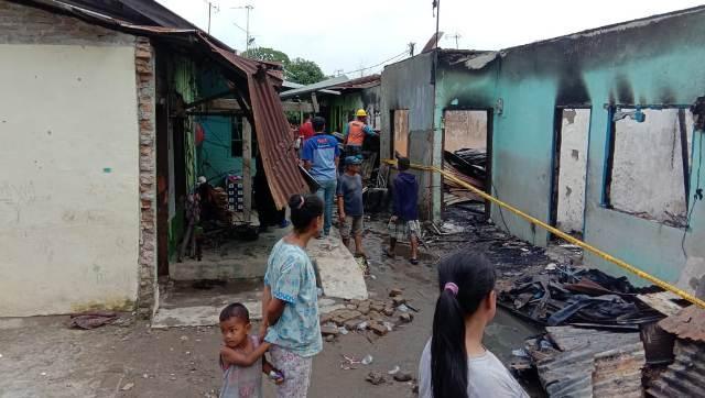 Kebakaran Hanguskan 8 Rumah di Jalan Alumunium III, Tanjung Mulia Medan