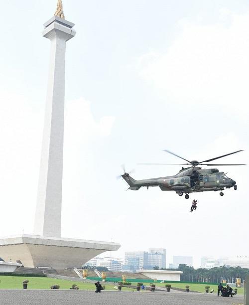 Panglima TNI Tinjau Latihan Pengamanan Tahap Penghitungan Suara Pemilu 2019
