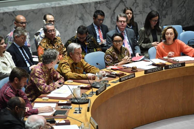 Dipimpin Menlu Retno, Diplomasi Batik Warnai Sidang Dewan Keamanan PBB