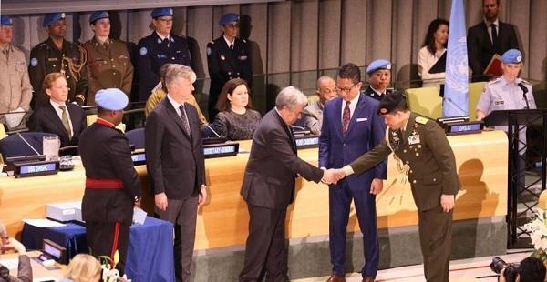 Penasehat Militer PTRI untuk PBB Terima Hammarskjold Medal Award 2019