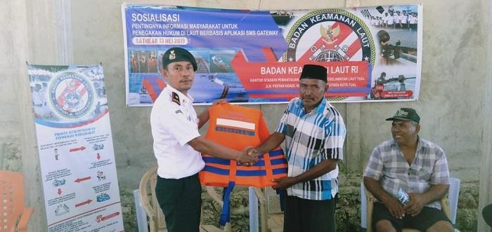 SPKKL Tual Bakamla Galakkan Laporan Berbasis SMS Gateway di Maluku Utara