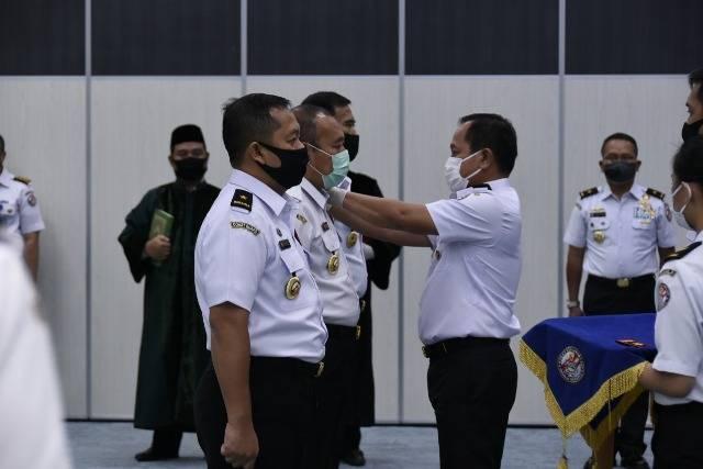Kepala Bakamla RI Pimpin Upacara Sertijab Tiga Jabatan Strategis Bakamla