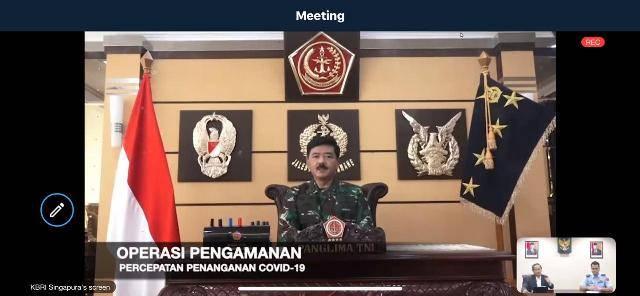 Panglima TNI Paparkan Langkah Konkrit TNI Bantu Penanganan Covid-19 di Indonesia