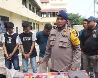 Komplotan Pencuri Motor Anggota Brimob Akhirnya Terbongkar, 4 Pria Diamankan Polisi