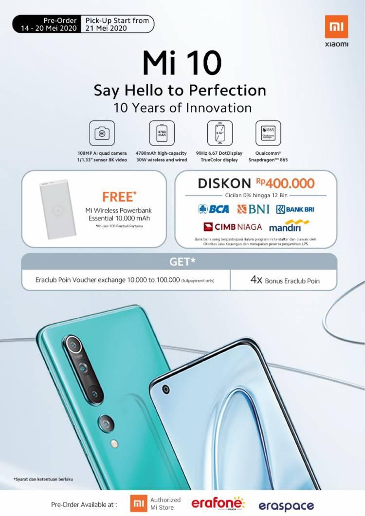 Erajaya Group Mulai Buka Pre-Order Xiaomi MI 10