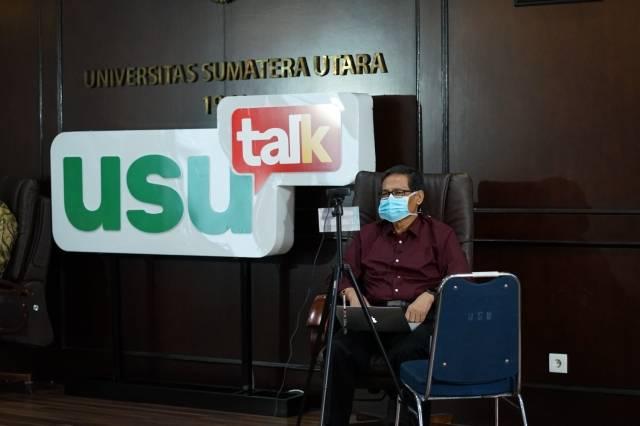 USU Talk Edisi Ramadan, Prof Dr Delfitri Munir Ajak Masyarakat Tetap di Rumah