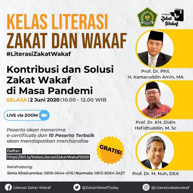 Kelas Virtual Gratis dari Kemenag, Belajar Literasi Zakat dan Wakaf