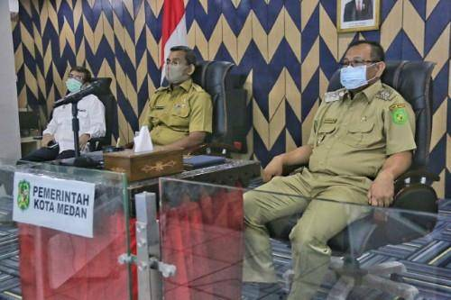 Pemko Medan dan Pemprov Sumut Bahas Pendistribusian Bansos untuk Warga Terdampak Covid-19
