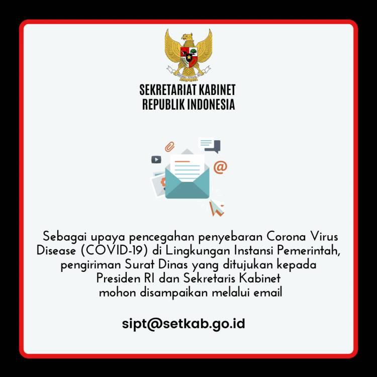 Sekretariat Kabinet Lakukan Pembatasan Alur Surat Dinas Masuk Secara Fisik