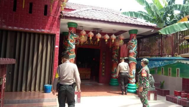 Tri Suci Waisak, Polsek Medan Helvetia Patroli Bersama TNI