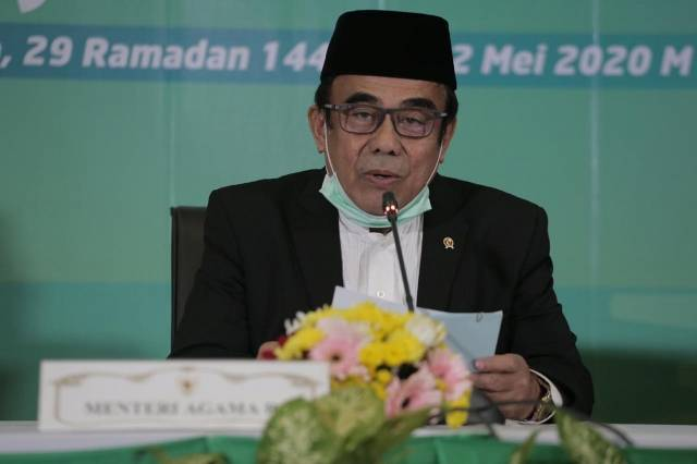 Menteri Agama Umumkan 1 Syawal 1441H Jatuh Pada 24 Mei 2020