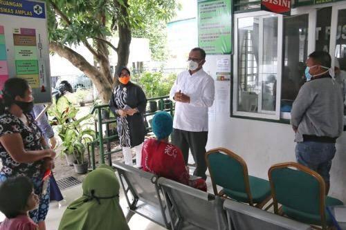 Plt Wali Kota Medan Tinjau SOP UPT Puskesmas Amplas Jalan Garu II