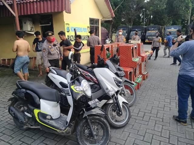 GKN Polrestabes Medan, Belasan Mesin Judi dan 4 Orang Ditangkap di Jermal 15 dan Pasar 10 Tembung