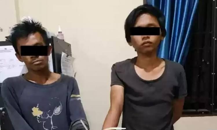 Polsek Tanah Karo Tangkap Dua Pria Nekat Pesta Sabu di Tengah Covid-19