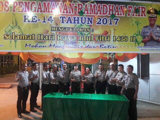 Polsek Medan Kota Dirikan Pos Pam di Arena Ramadhan Fair