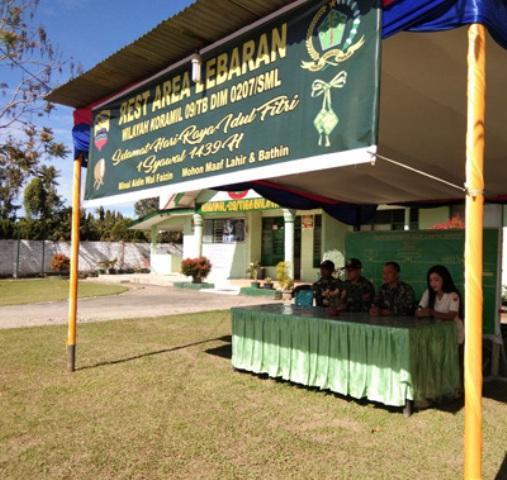 Koramil Jajaran Kodim 0207/Simalungun Buka Posko Rest Area Bagi Pemudik