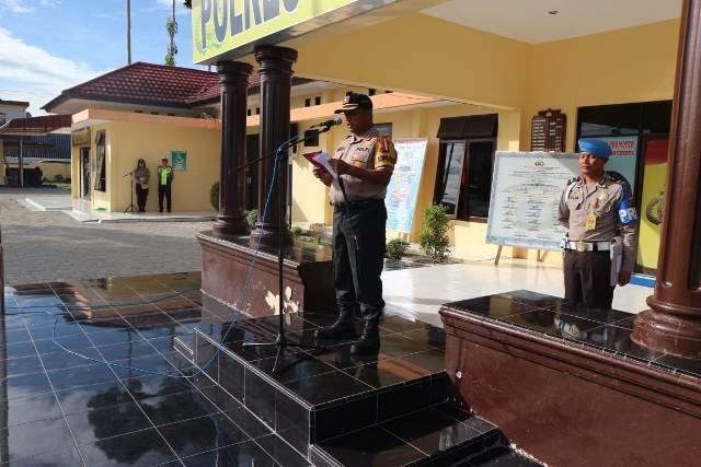 Kapolres Simalungun Pimpin Apel Pergeseran Pasukan PAM TPS