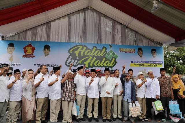 Jelang Debat Terakhir, Edy Santai Hadir di Halal Bi Halal Gerindra Sumut