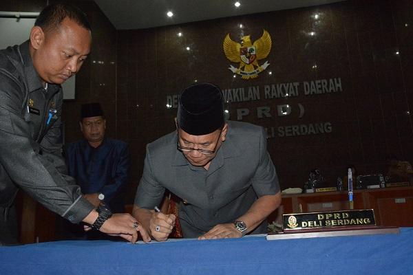 LPJ Pelaksanaan APBD Deli Serdang Tahun Anggaran 2018 Disetujui