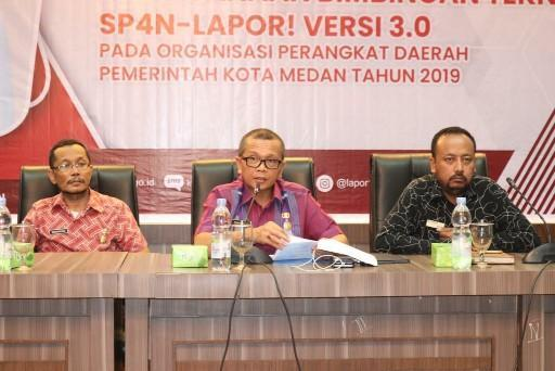 Walikota Buka Bimtek SP4N-Lapor Pemko Medan