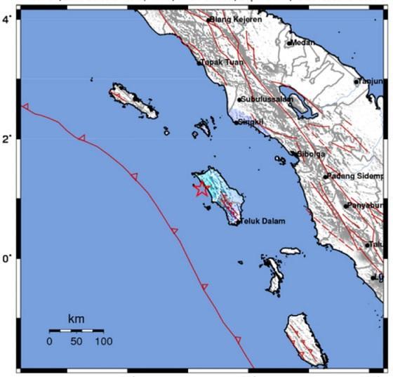 Gempa Bumi 4.7 SR Guncang Kepulauan Nias