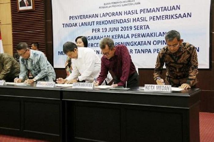 Walikota Medan Tandatangani Komitmen Bersama BPK Terkait LKPD TA 2019