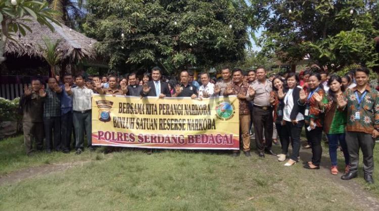 Polres Sergai Bersama BKAG Gelar Seminar Penyuluhan Bahaya Narkoba