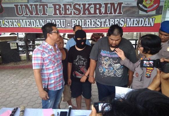 Kelompok Geng Motor Sadis di Medan Diringkus Polsek Medan Baru