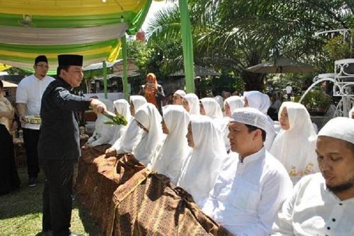 Dinkes Kota Medan Gelar Halal Bi Halal dan Tepung Tawar Haji di Taman Avros