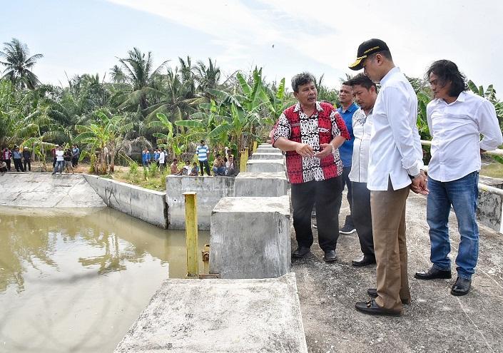 Sahuti Keluhan Petani, Wagub Sumut Koordinasi ke Pemkab Batubara Perbaiki Waduk Perupuk