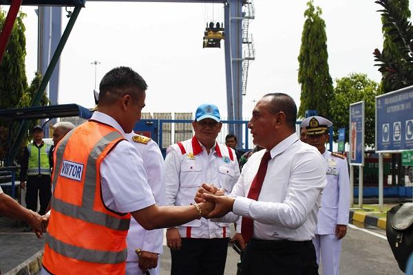 Kunjungi Pelabuhan Bandar Deli Belawan, Gubernur Ingin Belawan Jadi Tempat Rekreasi