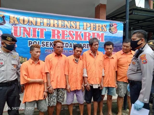 Seminggu, Polsek Medan Area Ringkus 6 Pelaku Kejahatan