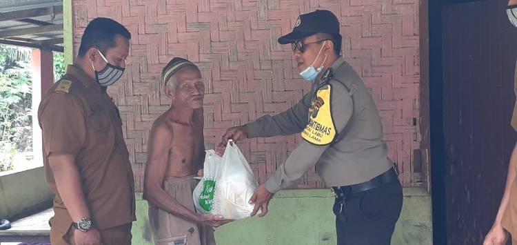 Jajaran Polresta Deli Serdang Salurkan Bantuan Sembako dari Polda Sumatera Utara