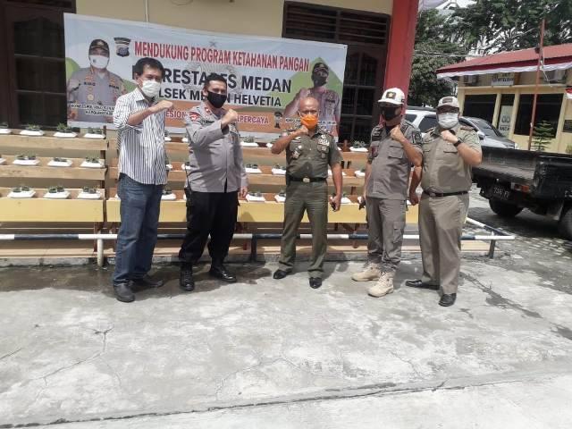 Kasat Pol PP Sumut Ikut Dukung Polsek Medan Helvetia Galakkan Program Ketahanan Pangan