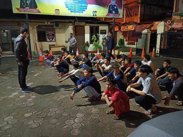 Razia Geng Motor, Polsek Delitua Amankan 12 Anak Baru Gede di Jalan AH Nasution dan Jalan STM