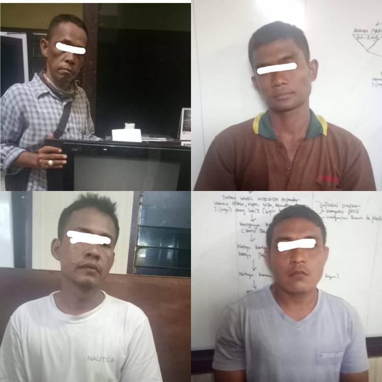 Satuan Reskrim Polresta Deli Serdang Ringkus 4 Pencuri Televisi