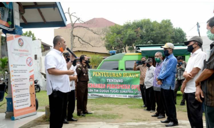 Pemprov Bersama Kejati Sumut Gelar Penyuluhan 3M untuk Warga Deli Serdang