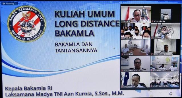 Kepala Bakamla RI Buka Long Distance Learning On Job Training Pengawak Kapal Negara, Stasiun Pengamat dan Admin PPK