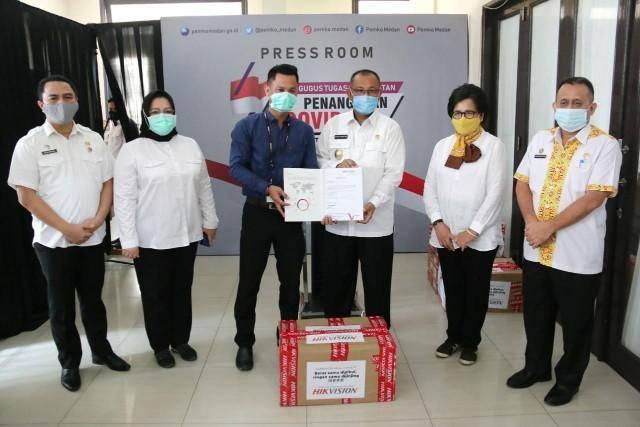 Wujud Kepedulian Bersama, Perusahaan Hikvision Beri Bantuan ke Pemko Medan