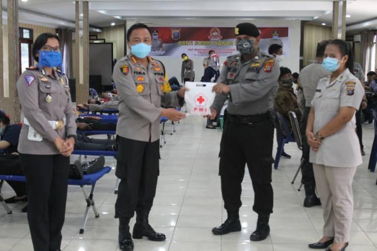 HUT Bhayangkara ke-74, Polresta Deli Serdang Gelar Bakti Sosial Donor Darah
