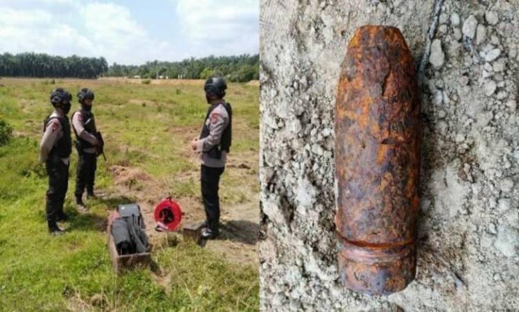Warga Dolok Masihul Geger Temukan Bom Mortir Aktif dari Zaman Belanda