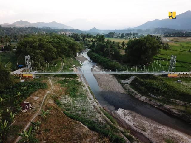 Tahun 2020, Kementerian PUPR Bangun 6 Unit Jembatan Gantung di Sumut