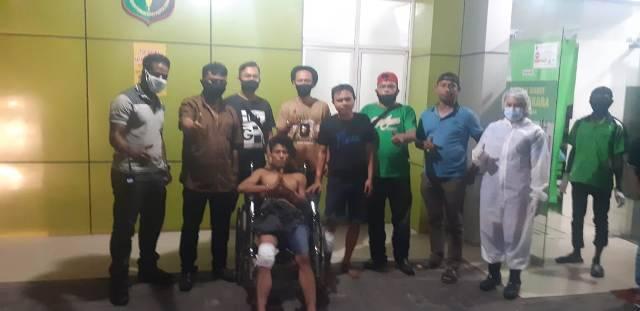 Polsek Sunggal Tembak Dua Pelaku Curanmor di Jalan Setia Budi Medan