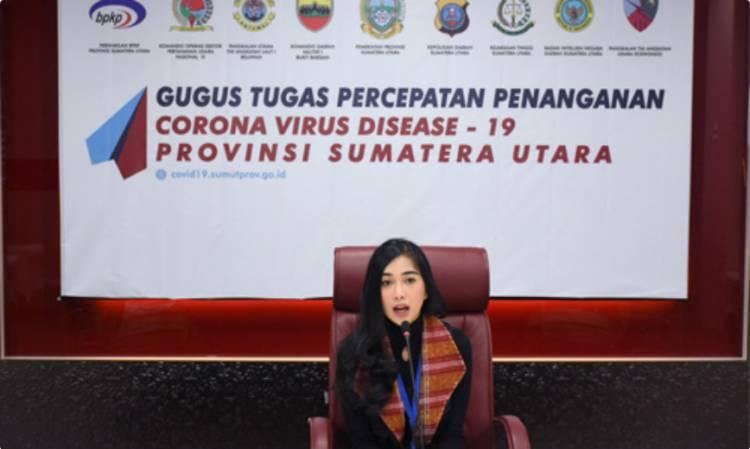 GTPP Covid-19 Sumut, Putri Mentari Sitanggang Ingatkan Masyarakat Kebiasaan Baru Jelang New Normal