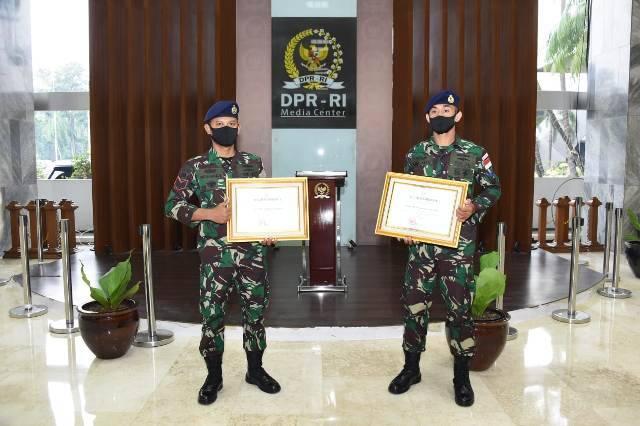 Dua Prajurit TNI AL Inspiratif Terima Apresiasi dari Ketua MPR RI