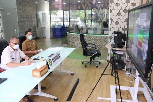Pemko Medan Ikuti Rapat Persiapan Penyusunan Pedoman New Normal dari Gubernur Sumut