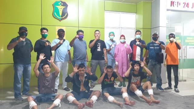 4 Komplotan Curanmor Ditembak Polisi di Jalan Pelajar Medan, Pelaku Sempat Terekam CCTV