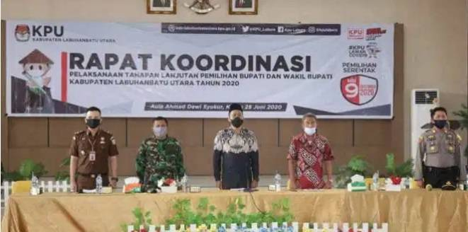 Jelang Pilkada 2020, KPU Gelar Rakor denga Pemkab Labura